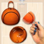 "Basketball 3 1/2""  Cowbells - 12 Pack"