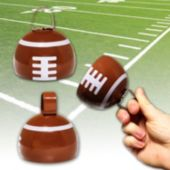 "Football 3 1/2""  Metal Cowbell - 12 Pack"