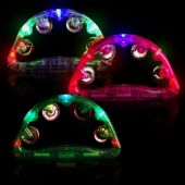 Flashing LED Tambourine - 9 Inch