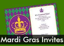 Personalized Mardi Gras Invitations