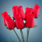 Red Wooden Roses- 8 Per Unit