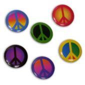 Peace Sign Pins-72 Pack