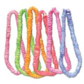 Assorted Color Two Tone Plastic Leis - 36 Inch, 12 Pack