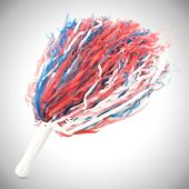 Red, White and Blue Pom Poms -12 Pack
