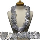 Silver Flower Leis -12 Pack