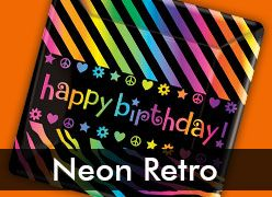 Neon Retro Birthday Theme