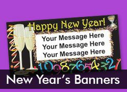 New Year's Custom Banners