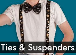 Costume Suspenders & Sequin Ties