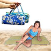 Blue Floral Beachmat