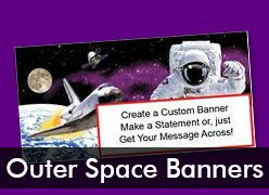Outer Space Custom Banners