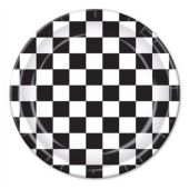 "Black Checkered Plates-9""-8 Pack"