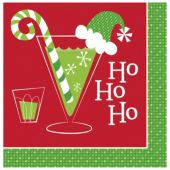Ho Ho Ho Holiday Beverage Napkins - 16 Per Unit