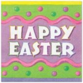 Happy Easter Beverage Napkins - 16 Pack