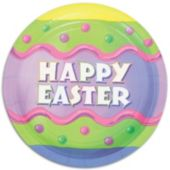 Happy Easter Plates - 9 Inch, 8 Pack