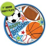 "Sports Birthday Party 7"" Plates – 8 Pack"