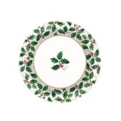 Holiday Holly Plates - 10 Inch, 40 Pack