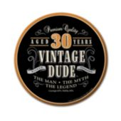 Vintage Dude 30 Years Plates – 7 Inches, 8 Pack