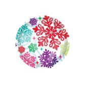 Bright Snowflakes Plates - 7 Inch, 8 Pack