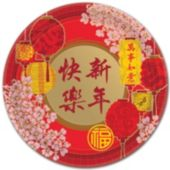 "Chinese New Year Plates-10 1/2"", 8 Pack"