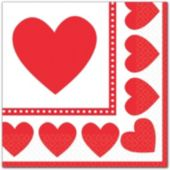 Sweet Love Beverage Napkins - 16 Pack
