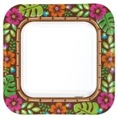 "Summer Luau 9"" Square Plates – 40 Pack"
