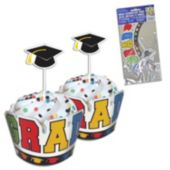 Colorful Grad Wrappers with Picks – 12 Pack