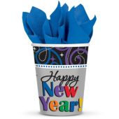 Happy New Year 9oz Cups – 8 Per Unit