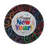 "Happy New Year 7"" Plates – 8 Per Unit"