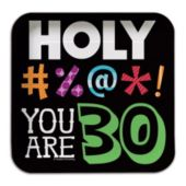 "30 Holy Bleep 7"" Square Plates"