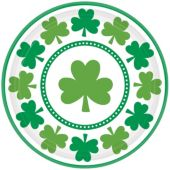 "St. Pat's Shamrocks 9"" Plates - 8 Pack"