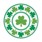 "St. Pat's Shamrocks 7"" Plates-8 Pack"