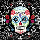 Sugar Skull Lunch Napkins-36 Per Unit
