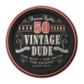 "Vintage Dude 50 Years 7"" Plates  – 8 Pack"