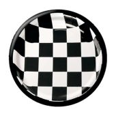 "Black And White Checkered 7"" Plates - 25 Pack"