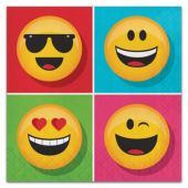 Emoji Lunch Napkins - 16 Per Unit