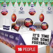 Super Bowl Deluxe Party Kit for 16 People