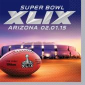 Super Bowl XLIX Beverage Napkins - 16 Pack