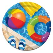 "Pool Party Plates - 8 3/4"" - 8 Per Unit"