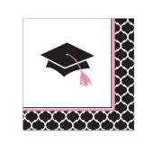 Congrats Grad Pink Beverage Napkins - 36 Per Unit