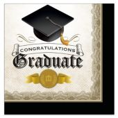 Congratulations Graduate Lunch Napkins - 16 Per Unit