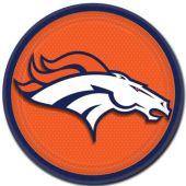 """Denver Broncos 9"""" Plates – 8 Pack"""