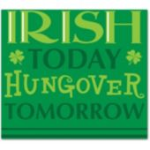 Irish Today Beverage Napkins - 18 Pack