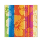 Aloha Summer Hibiscus Beverage Napkins - 16 Per Unit