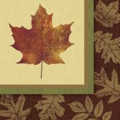 Fall Elegance Lunch Napkins – 16 Pack