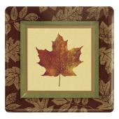 Fall Elegance Square Plates – 7 Inches, 8 Pack
