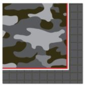Camo Red Beverage Napkins-16 Pack