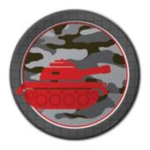 Camo Red Plates – 7 Inch, 8 Pack