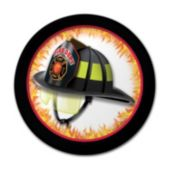 Fire Watch Helmet Plates – 7 Inches, 8 Pack