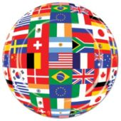 "International Flag 9"" Plates - 8 Per Unit"