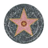 "Walk of Fame Star     7"" Plates-8 Pack"